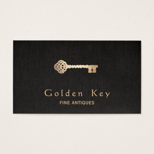 Gold Vintage Skeleton Key Antique Furniture Dealer Business