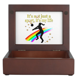 GOLD VOLLEYBALL IS MY LIFE DESIGN MEMORY BOXES