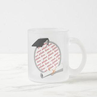 Gold w Black White Graduation Photo Frame Mug