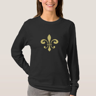 Gold Washout Fleur De Lis T-Shirt