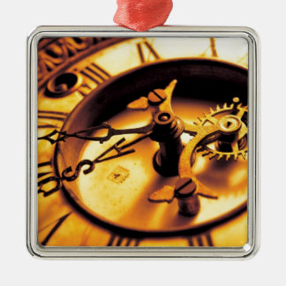 Gold Watch Face Christmas Ornament