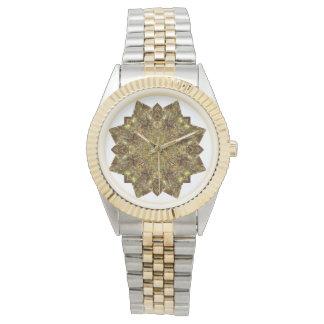 Gold Watch With Roseta