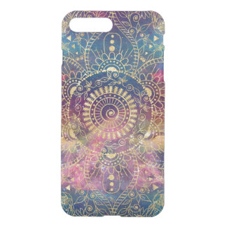 Gold watercolor and nebula mandala iPhone 8 plus/7 plus case