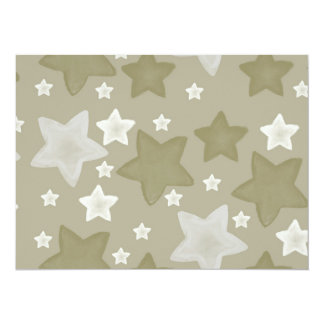 Gold Watercolor Stars baby shower 14 Cm X 19 Cm Invitation Card