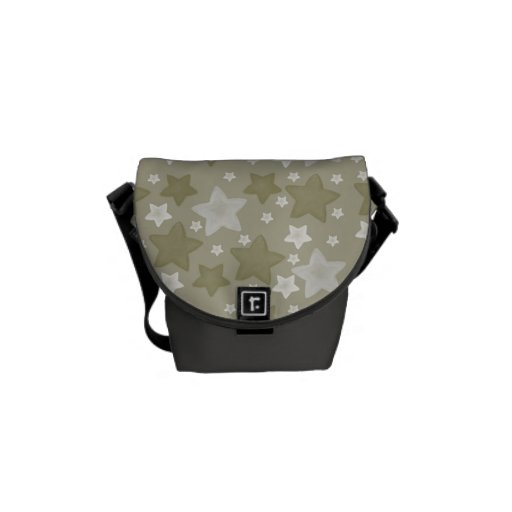 Gold Watercolor Stars Courier Bags