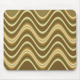 gold wave mouse mat