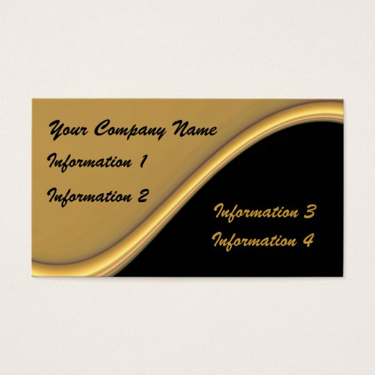 Gold Wave On Black Business Cards