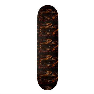 Gold Waves On Black 20 Cm Skateboard Deck