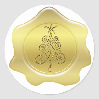 Gold Wax Christmas Seal Stickers