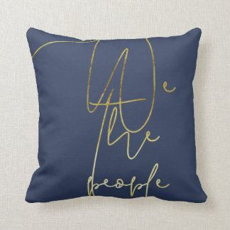 Gold We the people Cushion