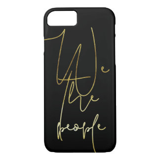 Gold We the people iPhone 8/7 Case