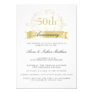 Gold Wedding 50th Anniversary Invitations