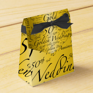 Gold Wedding Anniversary Party Favour Boxes