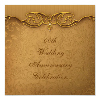 Gold Wedding Anniversary Party Invitation