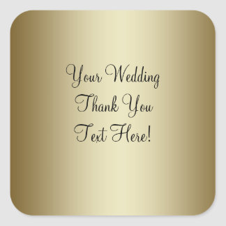 Gold Wedding Favor Thank You Sticker