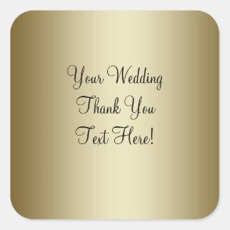 Gold Wedding Favour Thank You Sticker