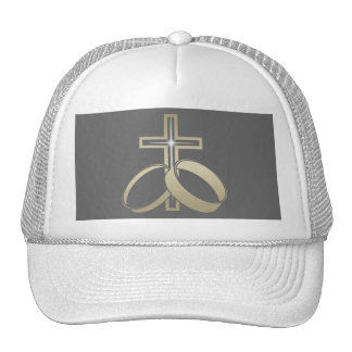 Gold Wedding Rings and Cross Hats