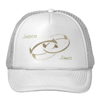 Gold Wedding Rings Art Gifts Hat