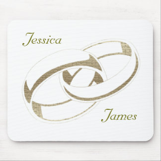 Gold Wedding Rings Art Gifts Mousemat