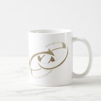 Gold Wedding Rings Art Gifts Mug