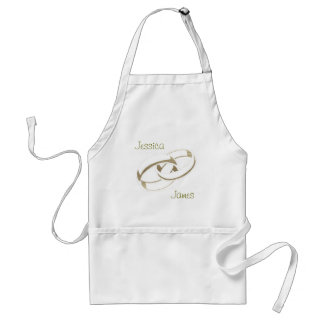 Gold Wedding Rings Art Gifts Standard Apron