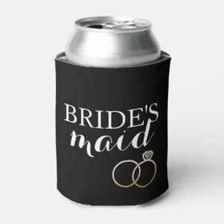 Gold Wedding Rings Bridesmaid Custom Can Cooler