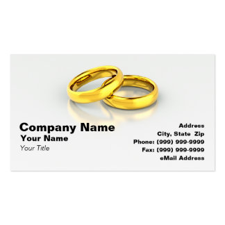 Gold Wedding Rings Business Cards