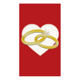 Gold Wedding Rings Heart Romantic Bridal Business Card Template