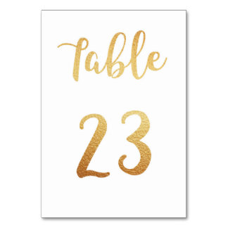 Gold wedding table number. Foil decor. Table 23 Table Cards