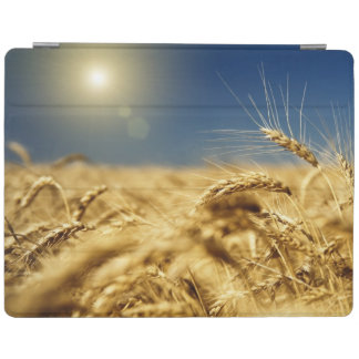 Gold wheat and blue sky with sun iPad cover