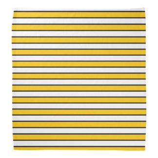 Gold, White and Black Stripes Head Kerchiefs