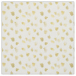 Gold White Animal Print Abstract Fabric