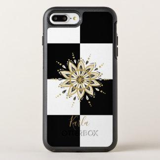 Gold white & black mandala geometric background 2 OtterBox symmetry iPhone 8 plus/7 plus case