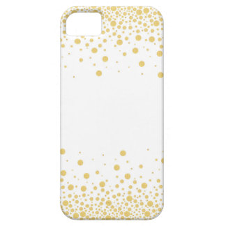 Gold & White Bokeh circles dots iPhone 5 Cases