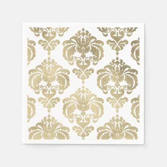 Gold & White Damask Vintage Wedding Event Party