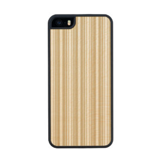 Gold & White Diagonal Christmas Candy Cane Stripes Carved® Maple iPhone 5 Case