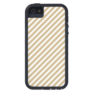 Gold & White Diagonal Christmas Candy Cane Stripes iPhone 5/5S Cover
