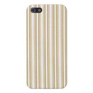 Gold & White Diagonal Christmas Candy Cane Stripes iPhone 5 Cover