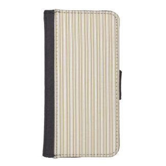 Gold & White Diagonal Christmas Candy Cane Stripes iPhone 5 Wallet