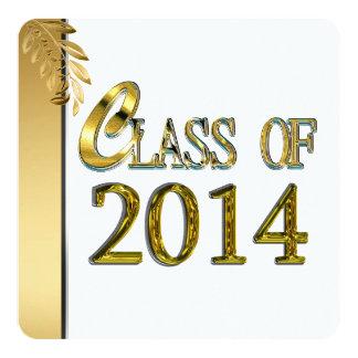 Gold & White Elegant 2014 Graduation Invitations