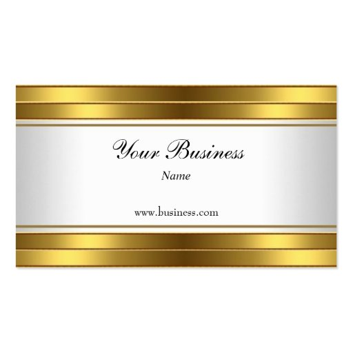 Gold White Elegant Classy Business Card Template