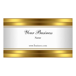 Gold White Elegant Classy Pack Of Standard Business Cards