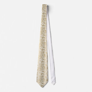 Gold & White Floral Paisley Damasks Pattern Tie