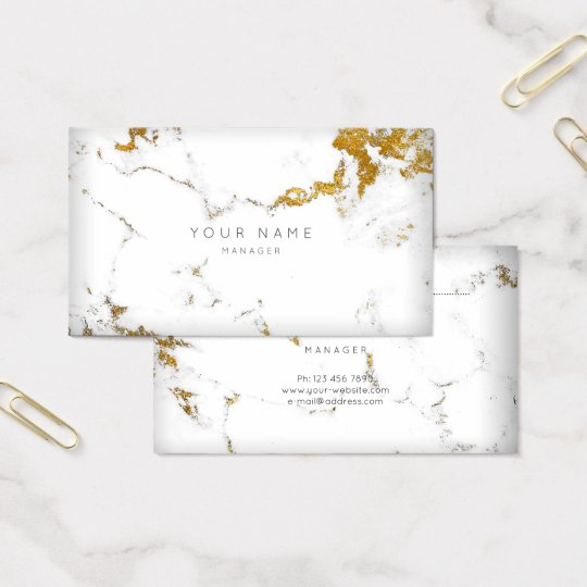 Gold White Gray Carrara Marble Vip Appointment Business