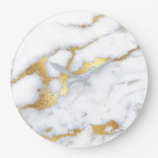 Gold White Grey Carrara Marble Stone Abstract Lux1