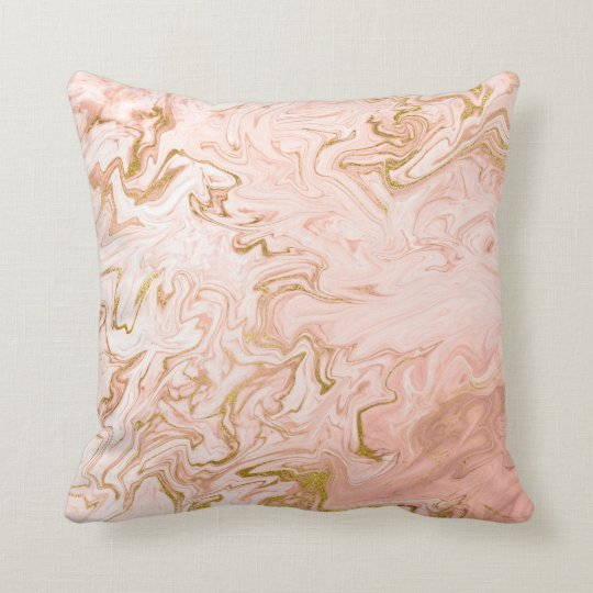 Gold White Marble Stone Coral Pink Rose Peach