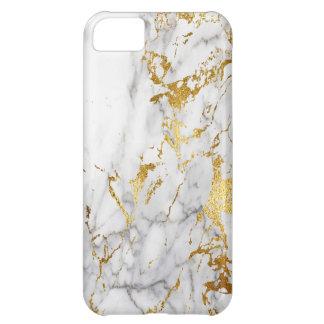 Gold White Marble Urban Trending iPhone 5C Case