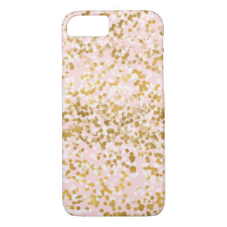 Gold White Pink Confetti iPhone 8/7 Case