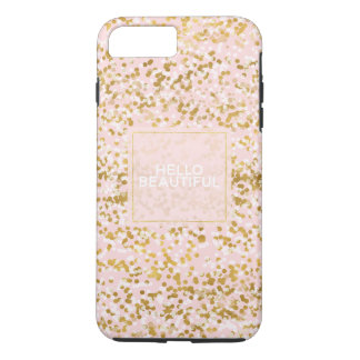 Gold White Pink Confetti iPhone 8 Plus/7 Plus Case