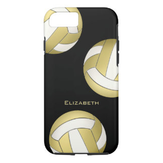 gold white women's volleyball iPhone 8/7 case